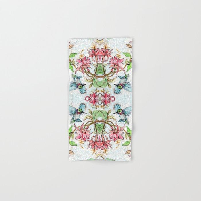 Honeysuckle Hummingbird Hand & Bath Towel