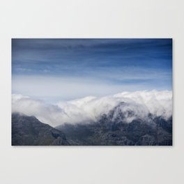 Clouds on Table Mountain Canvas Print