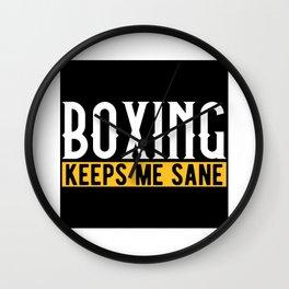 Boxing Lovers Gift Idea Design Motif Wall Clock