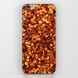 Crushed chilli peppers iPhone Skin