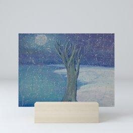 Night Snow Mini Art Print