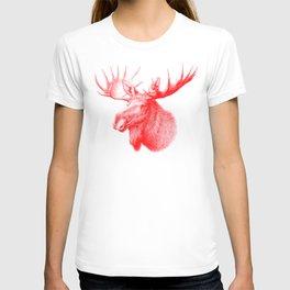 Moose red T-shirt