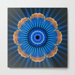 Fractality - Golden Flu Metal Print