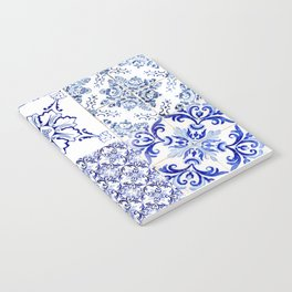 Azulejo VIII - Portuguese hand painted tiles Notebook