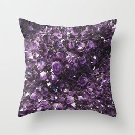 Amethyst Crystal Photography Throw Pillow