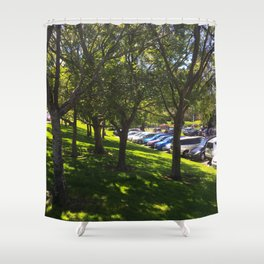 Carpark Trees Shower Curtain