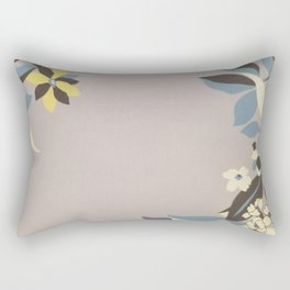 Lavender Border Flowers Rectangular Pillow