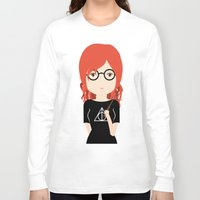 harry potter Long Sleeve T-shirts featuring Fan Girl Harry Potter by Creo tu mundo