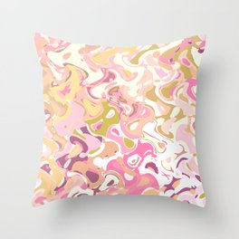 Little princess pink world, abstract pinkish shapes Throw Pillow