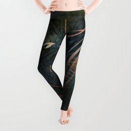 Autumn Flames on Indigo Leggings