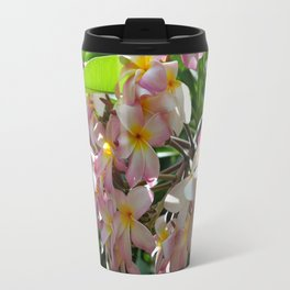 Plumeria Metal Travel Mug