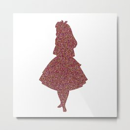 Glitter party Alice Metal Print