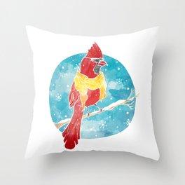 Cool Cardinal Throw Pillow