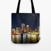 boston Tote Bags featuring Boston by Bust it Away Photography