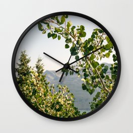 Aspen Leaves Wall Clock