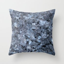 Blue Pearl Granite #1 #decor #stone #art #society6 Throw Pillow
