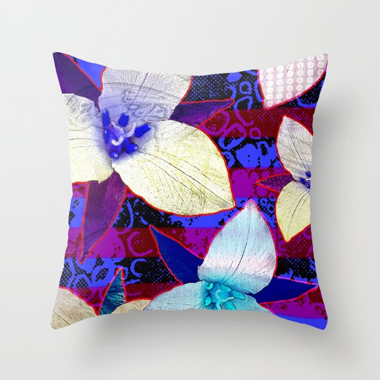 The Patriot Blooms Throw Pillow