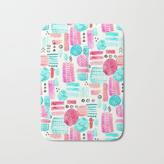 Dots, Circles and Dashes Bath Mat