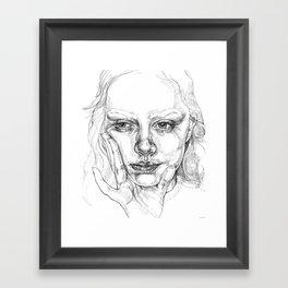 Head in Hand Framed Art Print