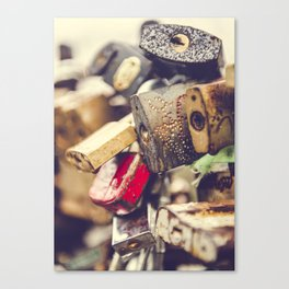 Padlocks in Riga, Latvia Canvas Print