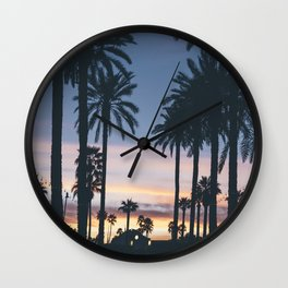 SUNRISE - SUNSET - PALM - TREES - NATURE - PHOTOGRAPHY Wall Clock