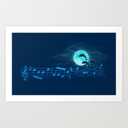 Ocean Symphony Art Print