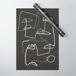 Abstract line art 12/2 Wrapping Paper