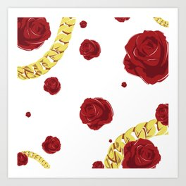 "Rose ""White"" Art Print"