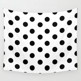 White & Black Polka Dots Wall Tapestry