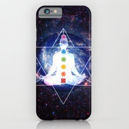 Merkaba Lightbody Chakra Meditation iPhone Case