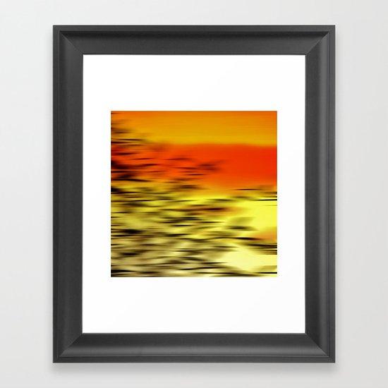 Warm whisper Framed Art Print