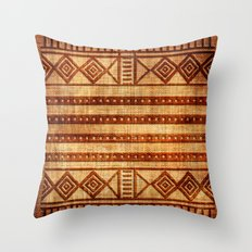 Embossed African Pattern Throw Pillow