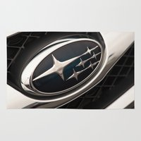 subaru Area & Throw Rugs featuring Subaru Logo by SShaw Photographic