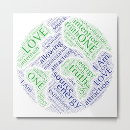 Law of Attraction Word Art Metal Print