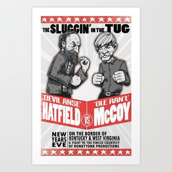 Hatfield McCoy Boxing Poster Vintage Look RonkyTonk Art Print