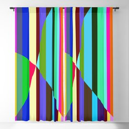 Stripes Interrupted Blackout Curtain