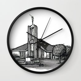 Freiberg Germany Temple Wall Clock
