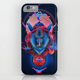 Blue gibbon iPhone Case