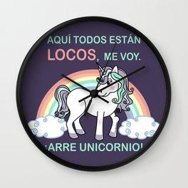 Cute unicorn Arre unicornio Wall Clock
