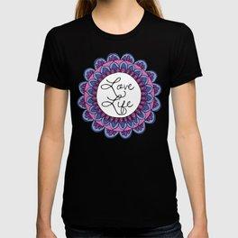 Love Life Mandala Ultraviolet T-shirt