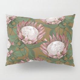 Dragon Flower Gold Pillow Sham