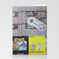 nintendo Stationery Cards featuring Super Nintendo by Kelsey Spinn