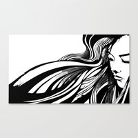 asian Canvas Prints featuring Asian by Alevan