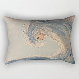 Ocean wave woman Serene Force nature  Rectangular Pillow