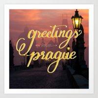 Greetings from Prague Art Print