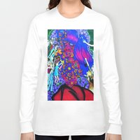 giants Long Sleeve T-shirts featuring Techno Giants by Jaz The Spaz