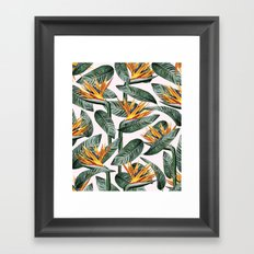 Bird Of Paradise Pattern #society6 #decor #buyart Framed Art Print