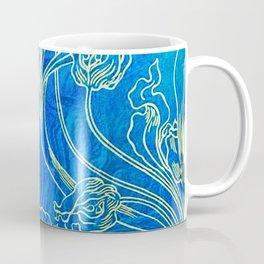 Blue,art nouveau, floral,belle epoque,vintage,chic,pattern,William Morris,Victorian,shabby chic,beau Coffee Mug