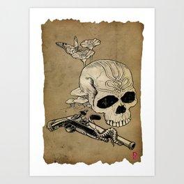 Skull Two Art Print
