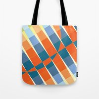 art deco Tote Bags featuring Art Deco by Robert Cooper